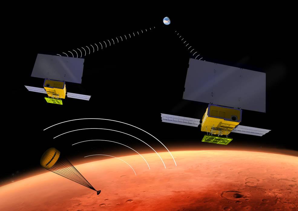 I due MarCO (Mars Cube One) CubeSat della NASA prenderanno il volo nel marzo 2016, come il prossimo lander marziano statunitense InSight. Crediti: NASA/JPL-Caltech
