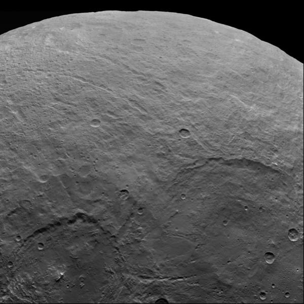 Cerere e i suoi crateri. Crediti: NASA/JPL-Caltech/UCLA/MPS/DLR/IDA