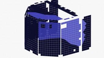 Questa immagine mostra i pannelli solari sul corpo di Philae. Le sezioni colorate di azzurro indicano la porzione di pannelli solari che si pensa siano stati illuminati nel momento in cui è stata scattata l'immagine del 13 dicembre scorso. Crediti: DLR