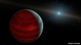 """Rappresentazione artistica di un ipotetico pianeta """"ringiovanito"""", un gigante gassoso che ha riattizzato il bagliore infrarosso tipico dell'età giovanile. Crediti: NASA/JPL-Caltech"""