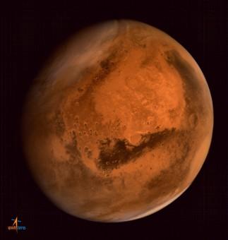 MOM ha ripreso anche delle tempeste di polvere su Marte. Crediti: ISRO