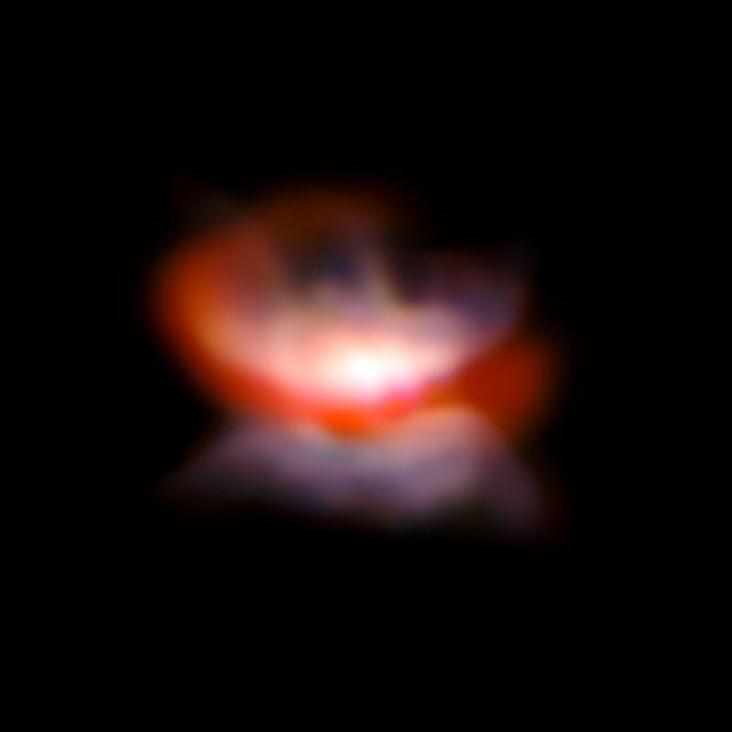 Immagine presa con VLT/SPHERE e NACO della stella L2 Puppis e dintorni. Crediti: ESO/P. Kervella