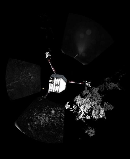 Philae sulla cometa.  Credit: ESA/Rosetta/Philae/CIVA