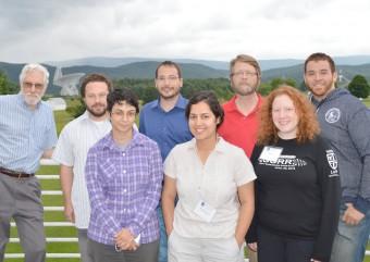Il gruppo di partecipanti alla scuola estiva al Green Bank Telescope