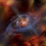 Visione artistica di un magnetar. Crediti: NASA/Swift/Aurore Simonnet, Sonoma State Univ.