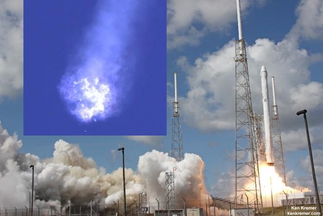 Il razzo Falcon 9. Crediti: Ken Kremer/kenkremer.com