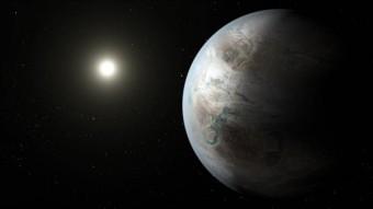 Una visione artistica del pianeta Kepler 452b e della sua stella. Crediti: NASA Ames/JPL-Caltech/T. Pyle