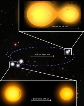 Rappresentazione grafica, non in scala, del sistema composto da 5 stelle. Crediti: Marcus Lohr