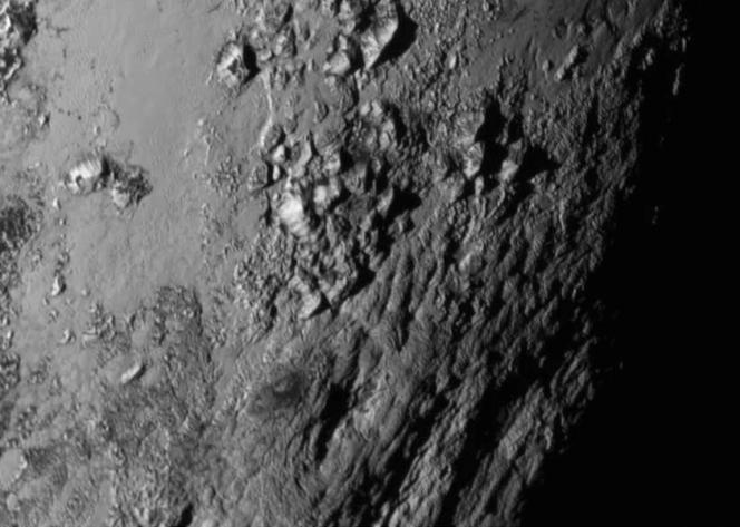 Un dettaglio dells superficie di Plutone