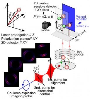 Schema dell'esperimento. Crediti: Mizuse et al. Sci. Adv. 2015;1:e1400185