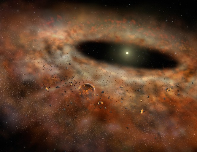 Rappresentazione artistica di un disco protoplanetario. Crediti: Gemini Observatory/AURA; autrice Lynette Cook