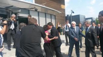 Renzi saluta Fabiola Giannotti. Crediti: ANSA/Serenella Mattera