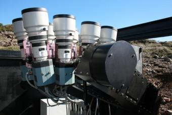 Il telescopio WASP1 sull'isola di La Palma, alle Canarie. (Da wasp-planets.net)
