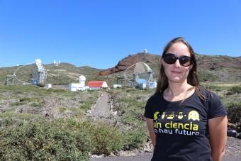 Elena Nordio all'osservatorio di Roque de Los Muchachos. Crediti: INAF/TNG