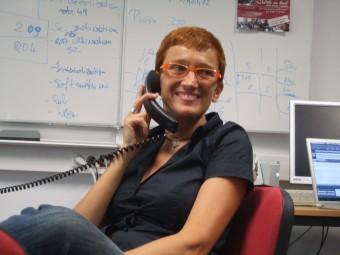 Anna Gregorio, impegnatissima in ufficio.