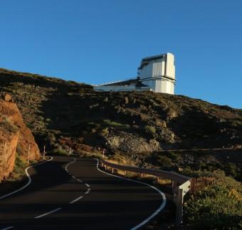 Il Telescopio Nazionale Galileo all'isola di La Palma, alle Canarie (Spagna). Crediti: INAF/TNG