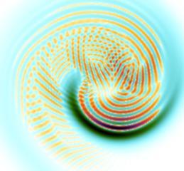 """La struttura """"giusta giusta"""" che emerge quando si guida attraverso una fase transizione quantistica un sistema, contenente luce e materia (come l'universo), né troppo velocemente né troppo lentamente. Crediti: Oscar Acevedo, Universidad de los Andes, and Neil Johnson, University of Miami"""