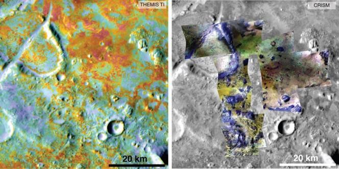 I ricercatori stimano le quantità di carbonio presenti nel suolo marziano grazie alla combinazione dei dati di più strumenti: nell'immagine un dettaglio della piana di Nili Fossae. Crediti: NASA / JPL-Caltech / ASU / JHUAPL.