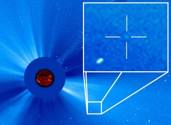 La cometa numero 3000 scoperta da SOHO. Crediti: ESA/NASA