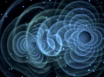La teoria di Einstein prevede che due buchi neri in collisione emettano onde gravitazionali, ma queste onde non sono ancora state rivelate direttamente. Nell'immagine, la rappresentazione artistica delle onde gravitazionali che si muovono attraverso lo spazio-tempo. Crediti: NASA
