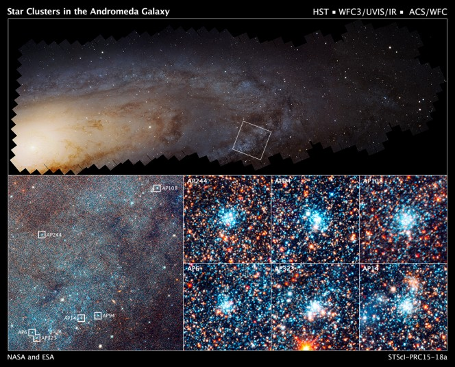 Crediti: NASA, ESA, J. Dalcanton, B.F. Williams, L.C. Johnson, PHAT, R. Gendler.
