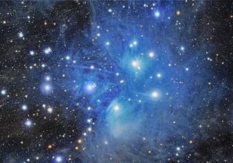 Con questa immagine delle Pleiadi, lo spagnolo Domingo Pestana Galván si è aggiudicato il primo premio dell'edizione 2014 del concorso internazionale di astrofotografia di La Palma. Crediti: d. Pestana Galván / Cabildo de La Palma