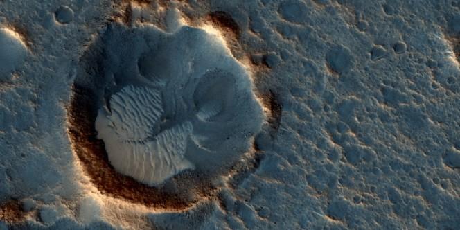 La regione Acidalia Planitia, dove è ambientata la maggior parte del film e dove si trova il sito d'atterraggio della missione Ares 3. Crediti: NASA/JPL-Caltech/Univ. of Arizona