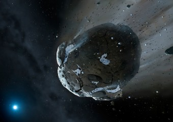 Rappresentazione artistica di un oggetto near-Earth.