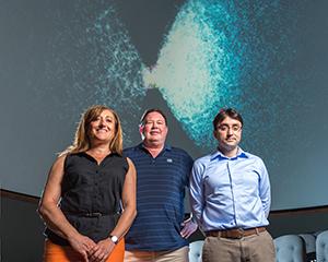 Da sinistra a destra: Daniela Carollo, Timothy Beers e Vinicius Placco