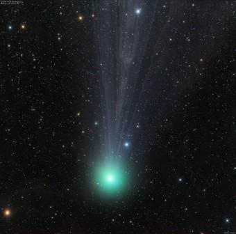 La cometa C/2014 Q2 Lovejoy fotografata da Damian Peach il 18 gennaio 2015