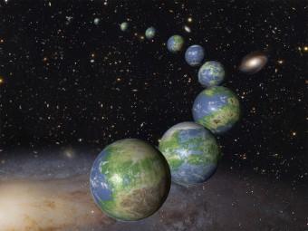 Rappresentazione artistica degli innumerevoli pianeti simili alla Terra che devono ancora nascere nel prossimo trilione di anni di vita dell'Universo. Crediti: NASA/ESA/G. Bacon (STScI)