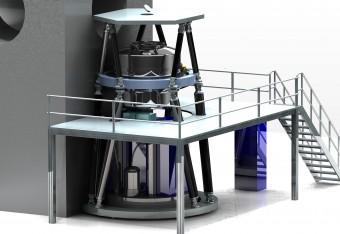 Rendering dello strumento MICADO che verrà installato al telescopio E-ELT. Crediti: ESO/MICADO consortium