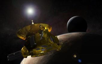 Il flyby di New Horizons su Plutone, nel rendering di un artista. Crediti: NASA.