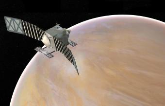 Visione artistica della missione Veritas per lo studio di Venere, una delle cinque proposte al vaglio della NASA per venire lanciate nei prossimi anni. Crediti: NASA/JPL-Caltech