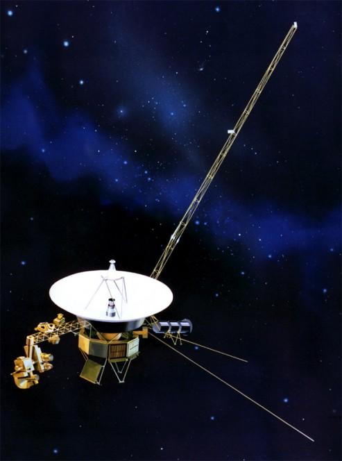 La sonda NASA Voyager 1 nel rendering di un artista. Crediti: NASA.