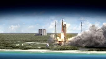 Durante la Exploration Mission-1, Orion si avventurerà ben oltre la Luna in un test senza equipaggio della durata complessiva di tre settimane. Crediti: NASA.