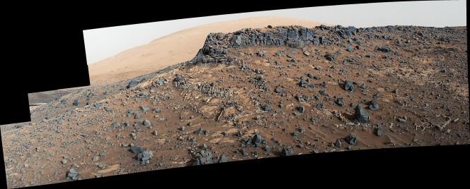 Il 27 marzo 2015 la Mast Camera (MastCam) di Curiosity ha ripreso il sito Garden City, che raccoglie una fitta rete di vene di minerali sporgenti. Crediti: NASA/JPL-Caltech/MSSS
