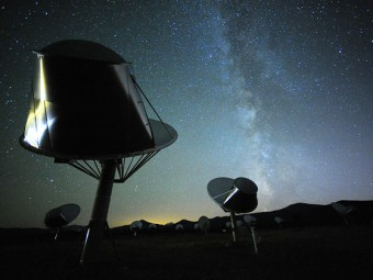 Allen Telescope Array. Crediti: Seth Shostak, SETI Institute.