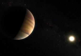 Rappresentazione artistica di 51 Pegasi b, il primo esopianeta mai scoperto (nel 1995) in orbita attorno a una stella normale. Crediti: ESO/M. Kornmesser/Nick Risinger
