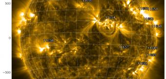 Un'immagine del Sole catturata dall'SDO poche ore dopo una massiccia espulsione di massa coronale osservata sul limbo nord est. Credits: Nasa/SDO/AIA