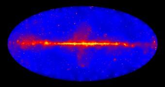 Il cielo gamma alle altissime energie, come osservato da Fermi. Crediti: NASA/Fermi LAT Collaboration