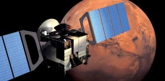 Mars Express in orbita intorno a Marte. Crediti: ESA/Medialab AOES