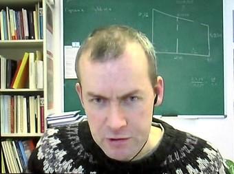Mathieu Ossendrijver durante l'intervista di Media INAF