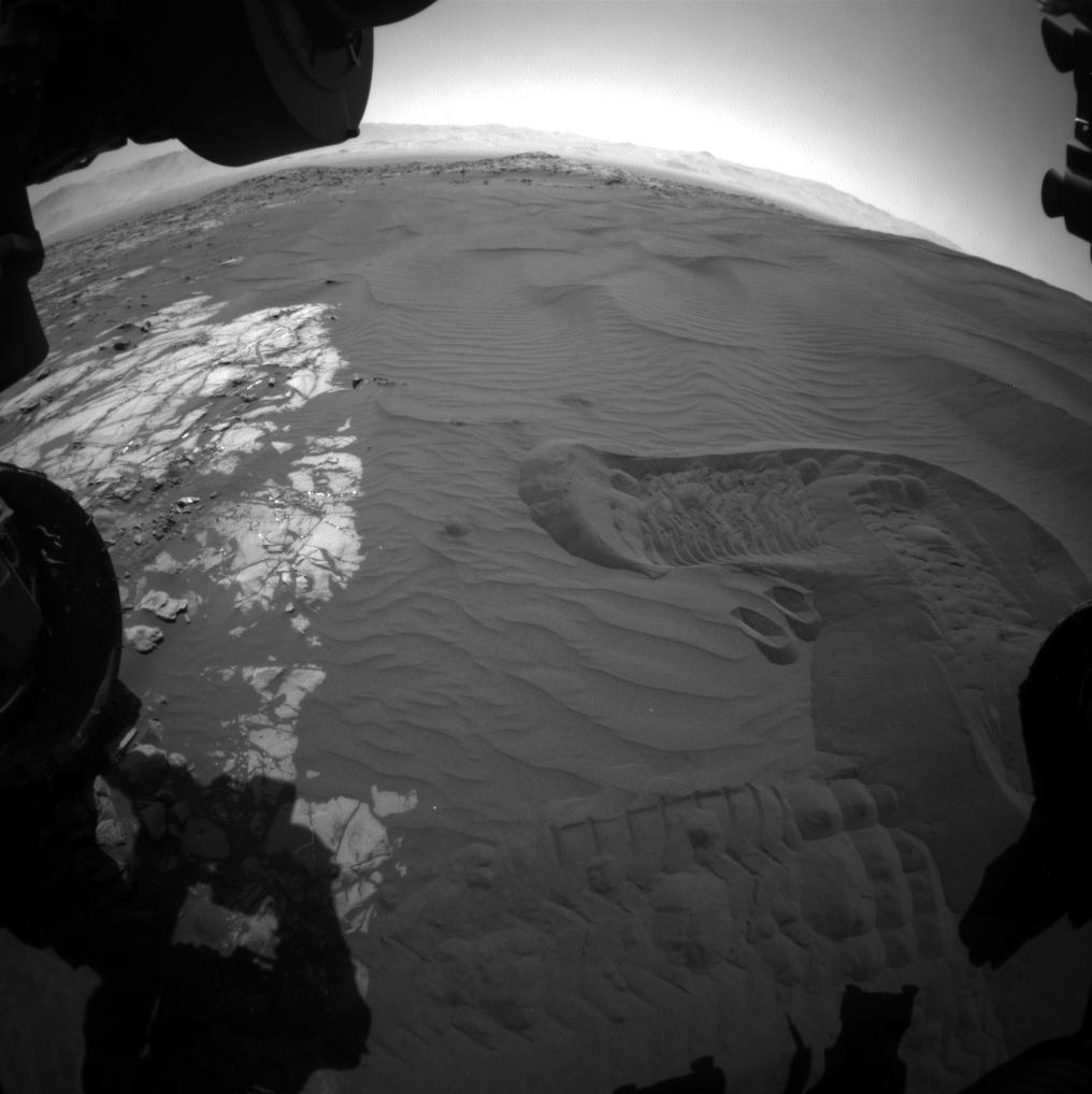 Dune di sabbia sul Monte Sharp, Marte. Crediti: NASA/JPL-Caltech