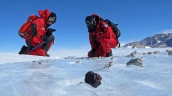 Una spedizione italiana a caccia di meteoriti in Antartide. Crediti: PNRA