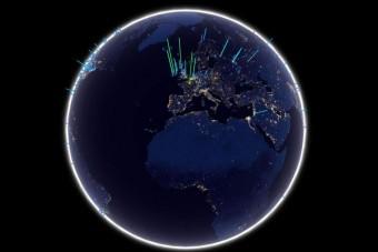 Il messaggio verrà lanciato via radio in direzione della stella polare. Pur viaggiando a velocità luce impiegherà 434 anni per raggiungere la destinazione finale. Crediti: Paul Quast.