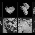 Mosaico di immagini raccolte dalla camera di navigazione a bordo della sonda Rosetta tra agosto e novembre 2014. Crediti: ESA/Rosetta/NAVCAM
