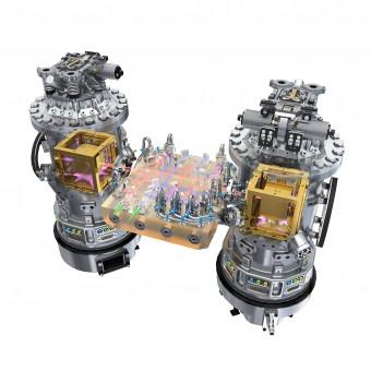 Rappresentazione schematica del LISA Technology Package, il cuore dell'esperimento, dove sono ospitate le due masse di test. Crediti: ESA/ATG medialab