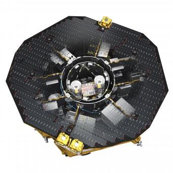 L'interno del modulo scientifico di LISA Pathfinder. Crediti: ESA/ATG medialab