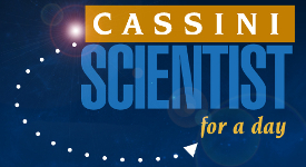Il logo del concorso Cassini Scientist for a Day